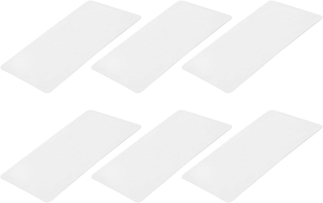 sourcing map 6pcs Loupe Lentille de Fresnel claire Loupe Carte Cr/édit 80mmx45mm 3X300/%