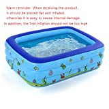 Roeam Inflatable Swimming Pool Portable Swimming Pool Inflatable Baby Swimming Pool Outdoor Children Basin Kid Bathtub for 1-2 Kids 51.18 * 35.43 * 19.69in Can Hold 53L Water