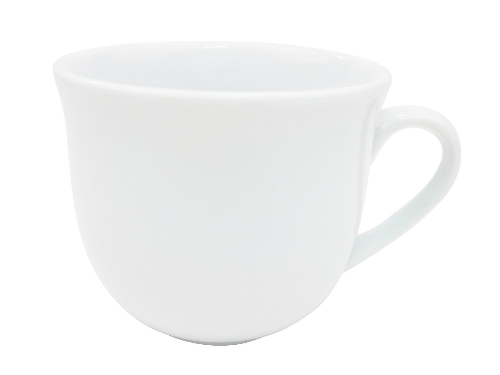 CAC China RCN-1-U Clinton Rolled Edge 3-1/2-Inch Super White Porcelain Cup, 8-Ounce, Box of 36