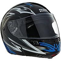 Studds Full Face Helmet Ninja 3G D3 (Black N1, XL)
