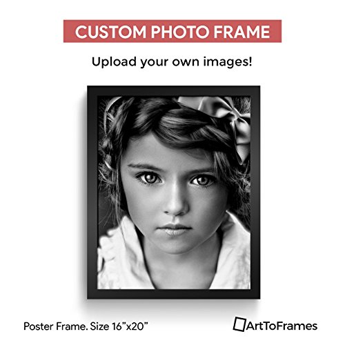 Photo Framed 16x20 (Custom Framing on Amazon High Definition Quality Photo 16x20, Framed in Custom Black Frame No Mat)
