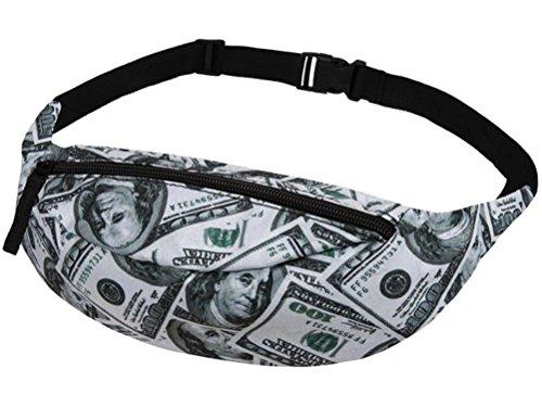 U.S. Dollar Scheine Geld Gürteltasche Bauchtasche Hüfttasche