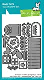Lawn Fawn Lawn Cuts Custom Craft Die LF1609 Scalloped Treat Box Spring House Add-On
