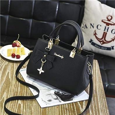 d86c67614f71f Amazon.com: YINGPEI Women Bag Vintage Casual Tote Fashion Women Messenger  Bags Shoulder Top-Handle Handbag Purse Wallet Leather New Color Black: Shoes
