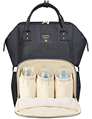 SUNVENO Insulated Diaper Bag Backpack Large Waterproof Nappy Changing Mummy Women Bag