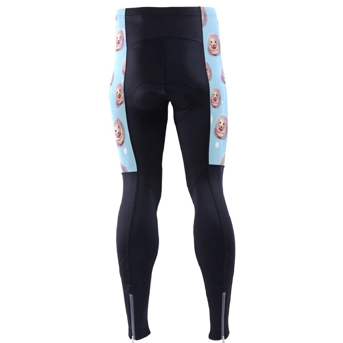 DERLONKAJE Mens Bicycle Pants Weed Leaf Cycling Tights MTB Leggings