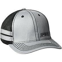PBR Men's Gray Side Stripe Mesh Cap