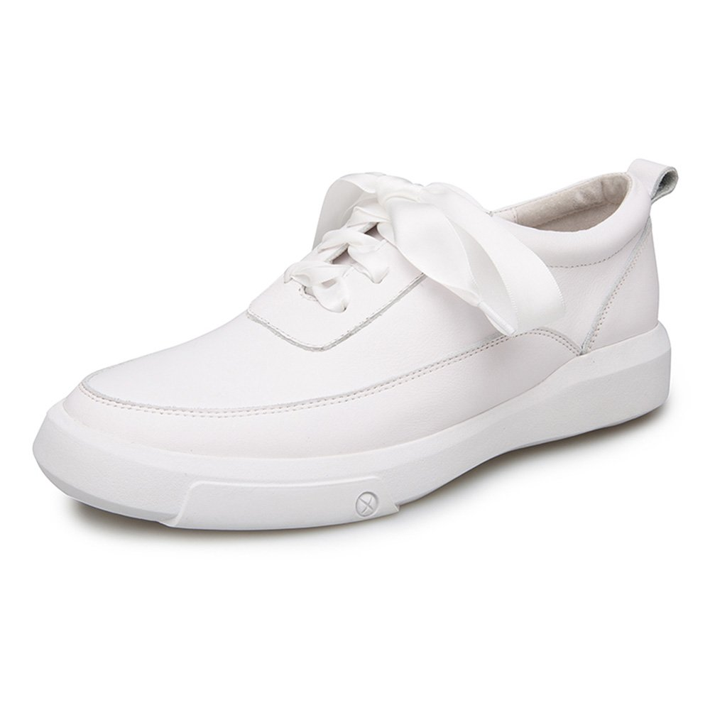 NAN Damenschuhe PU Sommer Komfortable Flache Ferse Lässig Weiße Schuhe Weiß ( Farbe   Weiß  größe   EU39 UK6.5 CN40 )