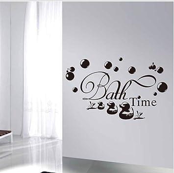 TANJINLOU Texte Stickers Muraux Heure du Bain Mignon Canard ...