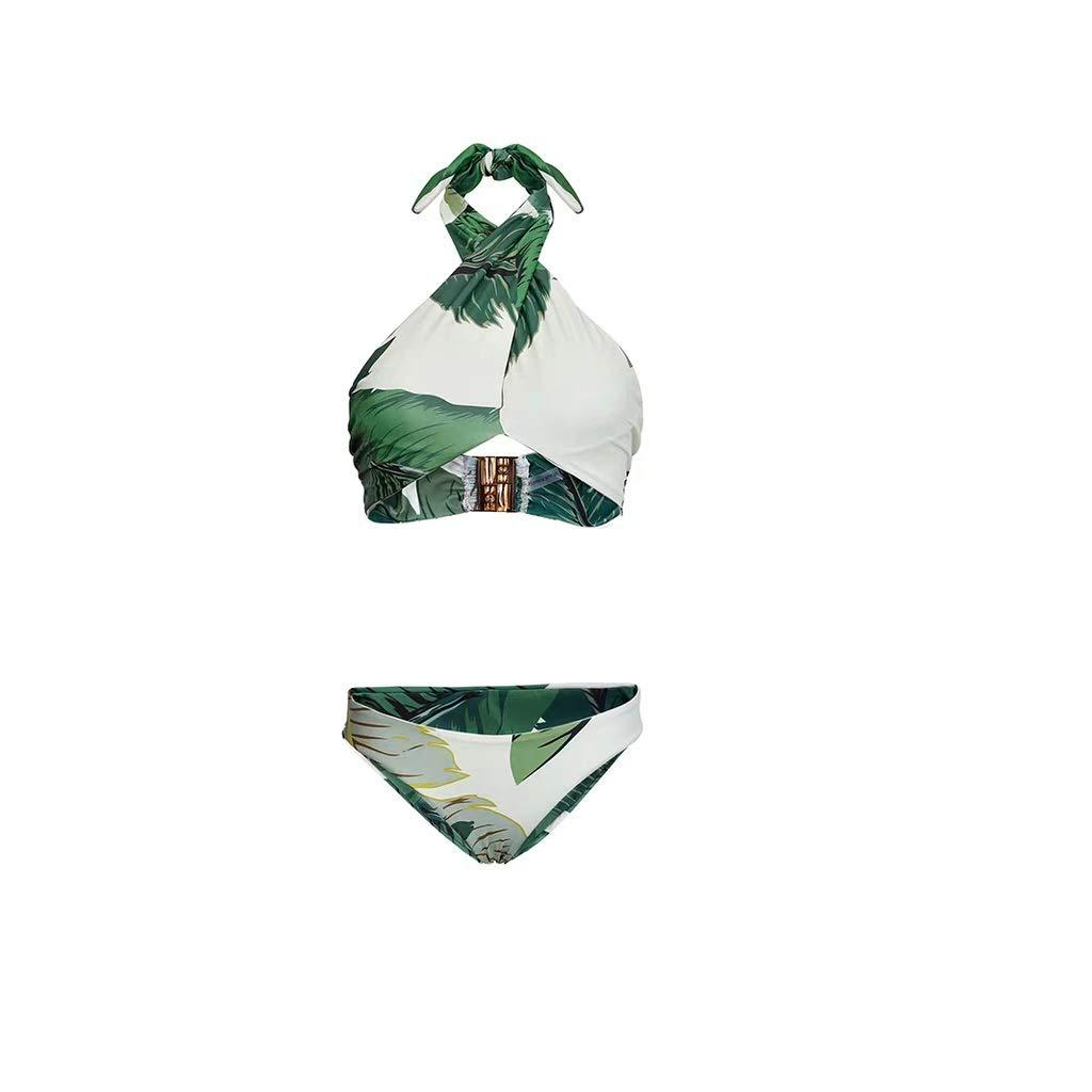 Medium Maillot de Bain Femme Trois pièces Bikini Sexy avec Maillot de Bain (Taille   M)