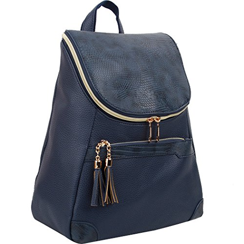 Navy Copi Women's bags Fashion purse Lovely Backpacks feminine zipper Round Design Small FTPZqF