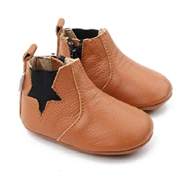 2c109e67b5d38 Starbie Baby Boots, Baby Booties, Leather Baby Chelsea Boots, Infant Boots  Navy, Baby Boots Brown, Toddler Boots Boys/Girls, Brown Baby Booties
