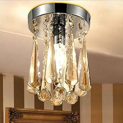 LightInTheBox New Design Best Selling Luxury Crystal Ceiling Chandelier Light, Modern Home Ceiling Light Fixture Flush Mount, Pendant Light Chandeliers Lighting, Home Color=transparence;Voltage=110-120V