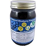 Low Carb Blueberry Preserves - LC Foods - All Natural - No Sugar Added - Paleo - Gluten Free - Diabetic Friendly - Low Carb Jam - 16 oz