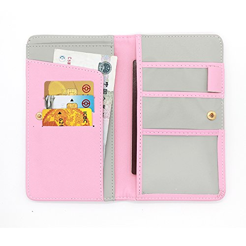 Q4Travel Leather PU RFID Blocking Travel Wallet, Documents and Passport Holder. Choice of colors (Pink)