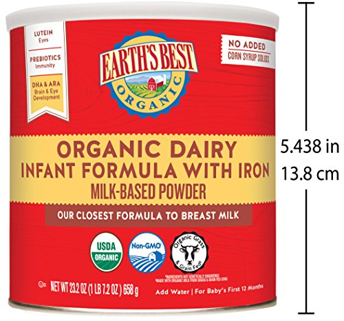 Large Product Image of Earth's Best Organic Infant Powder Formula with Iron, Omega-3 DHA & Omega-6 ARA 23.2 Ounce (Packaging May Vary)