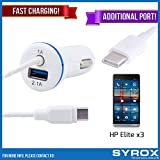 Syrox 20-Pack Type-C Car Charger & Port, Reversible 4 ft Fast Charging for HP Elite x3, Samsung Galaxy Note 8, S8 Plus, LG V30, V20, G6, G5, Google Pixel, 6P, Nintendo Switch and All