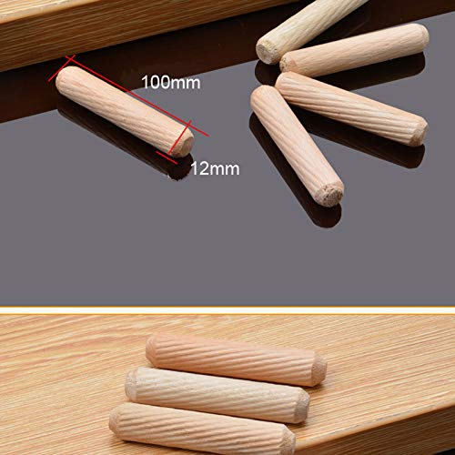 Ochoos 100pcs Per Lot 12mm Diameter Hardwood Round Furniture Fitting Wood Dowel Pin 50mm//100mm Length Wooden Craft Dowel Pins Rods Diameter: 12mm Diameter, Length: 100mm100pcs