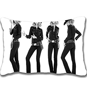 2015 Hot Sale Design Celebrity Zippered Pillows 20 X 30 inch Delta Goodrem Celebrity Wallpaper(1) Pillowcase Decorative Cotton Polyester Throw Pillow Case Cushion Cover (Two sides)