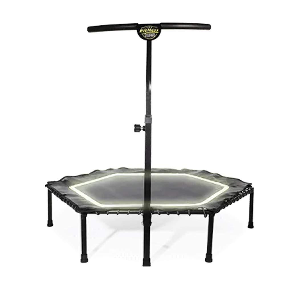 Fitness-Trampolin - Trampolin Indoor Home Gym für Erwachsene Kinder Trampolin Gewichtsverlust Mit Armlehnen Sprungbett Indoor Bounce-Bett (Last: 150 kg)