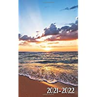 Image for 2021-2022: Two-Year Monthly Pocket Planner with Phone Book, Notes & Password Log   Fantastic Inspirational Tropical Ocean Beach Sunrise 2 Year (24 Months) Agenda, Calendar & Organizer