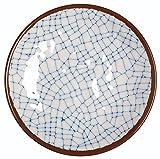 Melange 36-Piece 100% Melamine Dinner Plate Set (Hammered Checks Collection ) | Shatter-Proof and Chip-Resistant Melamine Dinner Plates | Color: Sky Blue
