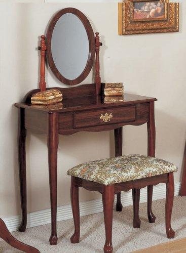 Oak Vanity Bench - 8