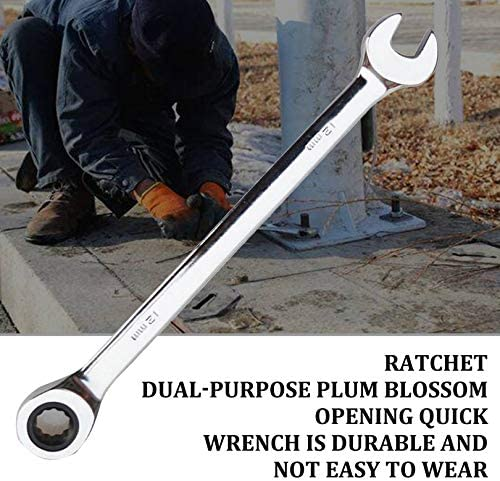 ZicHEXING Ratchet Combination Wrench Quick Wrench Plum Blossom Opening Fast Ratchet Wrench Dual Purpose Opening Plum Wrench