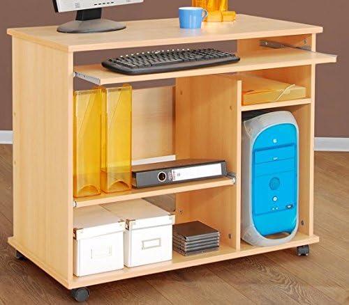 1373 PC-Tisch Buche dekor Computertisch Schreibtisch Buche