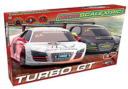 Micro Scalextric 1:64 Scale Turbo GT Race Set by Micro Scalextric
