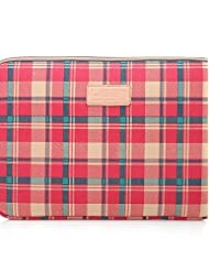 """LISEN 10'' 11'' 12'' Red Plaid Pattern Protective Sleeve Laptop Computer Bag , 12"""""""
