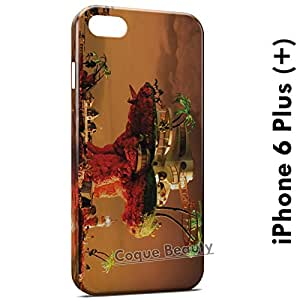 Carcasa Funda iPhone 6 Plus (iPhone 6+) Gorillaz Plastic Beach Protectora Case Cover