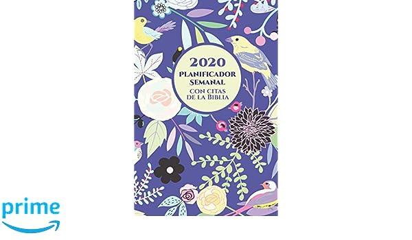 2020 Planificador Semanal Con Versos De La Biblia En Cada ...