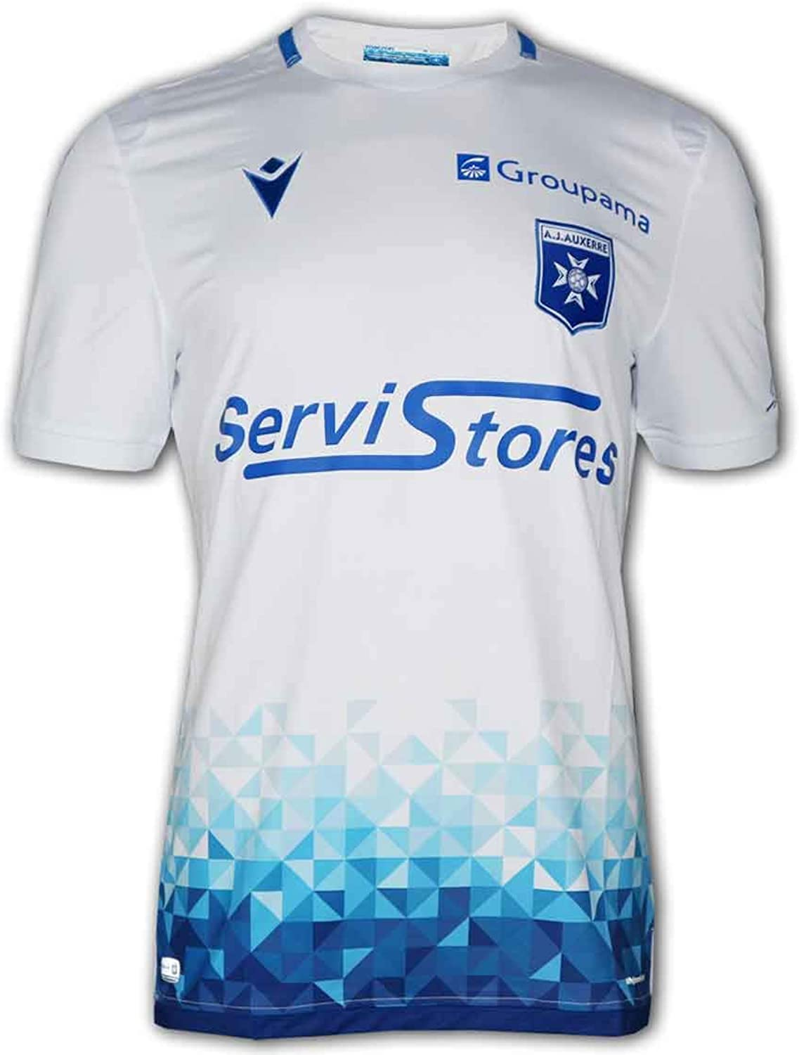 Amazon Com Macron 2019 2020 Auxerre Authentic Home Football Soccer T Shirt Jersey Clothing