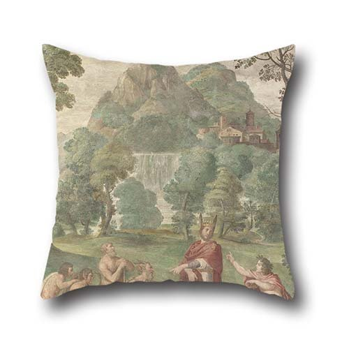 Oil Painting Domenichino And Assistants - The Judgement Of Midas Pillow Shams 18 X 18 Inches / 45 By 45 Cm Gift Or Decor For Lounge,teens Girls,divan,home Theater,lover,gf - Twin Sides (150 000+ Embroidery Designs compare prices)