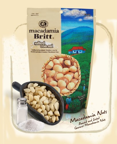 Cheap 100 Percent Premier Whole Gourmet Salted Macadamia nuts from Costa Rica by Cafe Britt, 5 ounces