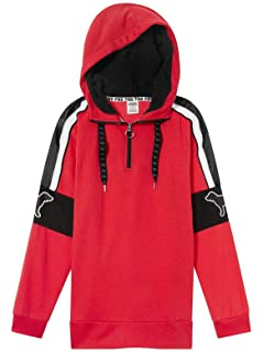 8e083e26b634c Victoria's Secret Pink Campus Sherpa Hood Pullover Hoodie Color Red Small  NWT