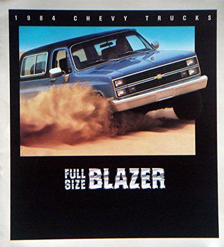 1984 84 Chevrolet Chevy FULL SIZE BLAZER Truck BROCHURE