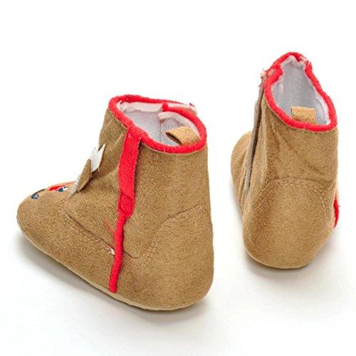Xshuai 2107 Neuer Entwurf Neugeborenes Säuglingsbaby-Mädchen-Weihnachtsweiche Aufladeschuhe Weiche Alleinige Rutschfeste Aufladung (0-18 Moante Khaki) Khaki
