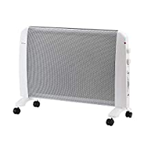 Ainfox Space Heaters, 1500W Mini Convector Panel Space Heater with Adjustable thermostat Tip-Over Overheat Protection (White)