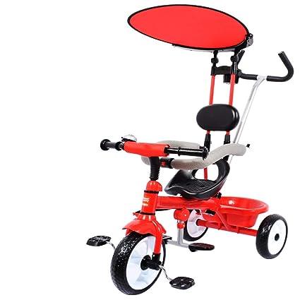 Triciclo para niños/Carritos para bebés Carriagel Neumático no Inflable para 6 Meses hasta 6