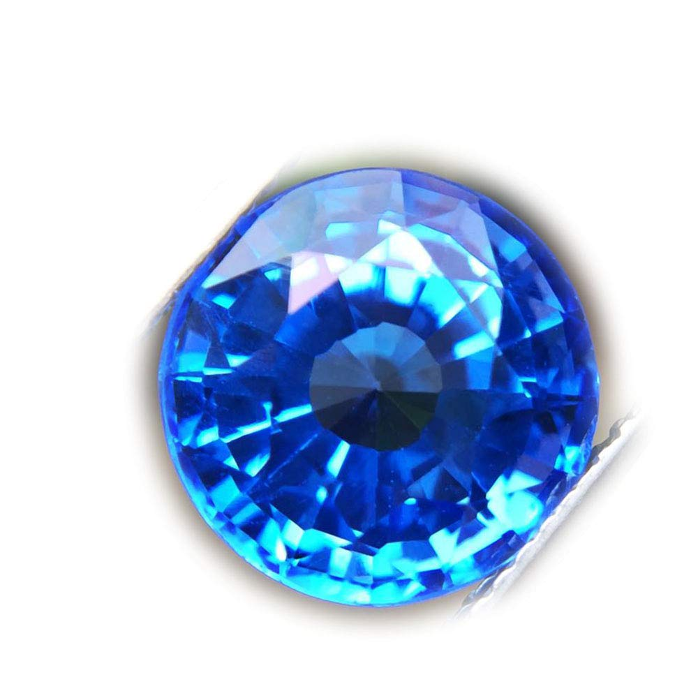 Lovemom 6.15ct Natural Round Coating Blue Topaz Brazil #B
