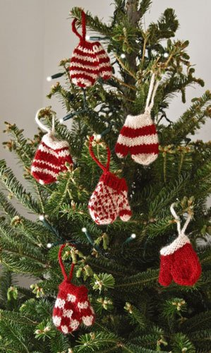 Mini Mitten Ornament Set of Six - Fair Trade & Handmade -