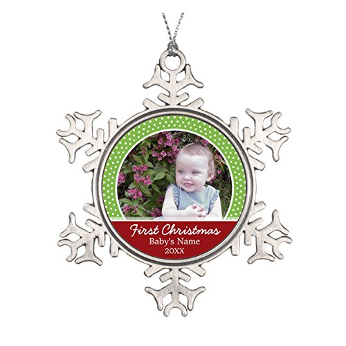 Baldwin Christmas Ornaments (Baby's First Christmas Photo - Single Sided Ceramic Round Christmas Ornament)