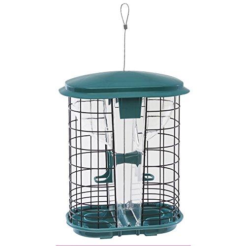 Stokes Select Squirrel-X Squirrel Resistant Bird Feeder, Hopper Feeder, Two Feeding Ports, 3.4 Pounds Bird Seed Capacity, Green ()