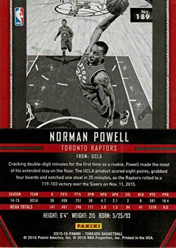 Amazon.com: 2015-16 Threads Rookies #189 Norman Powell RC ...
