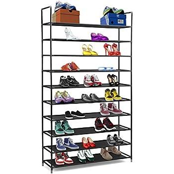 cfedaebb2b Amazon.com: AmazonBasics 50-Pair Shoe Rack Organzier: Home & Kitchen