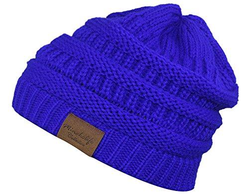 Royal Blue Knit Hat - 6