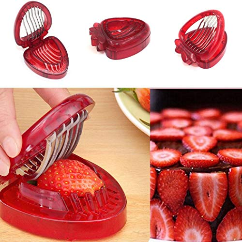 OYTRO Mini Strawberry Slicer Craft Fruit Cutter Gadgets Kitchen Tool Fruit & Vegetable Tools