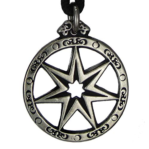 Faerie Star - Pewter Seven Pointed Fairy Star Pendant